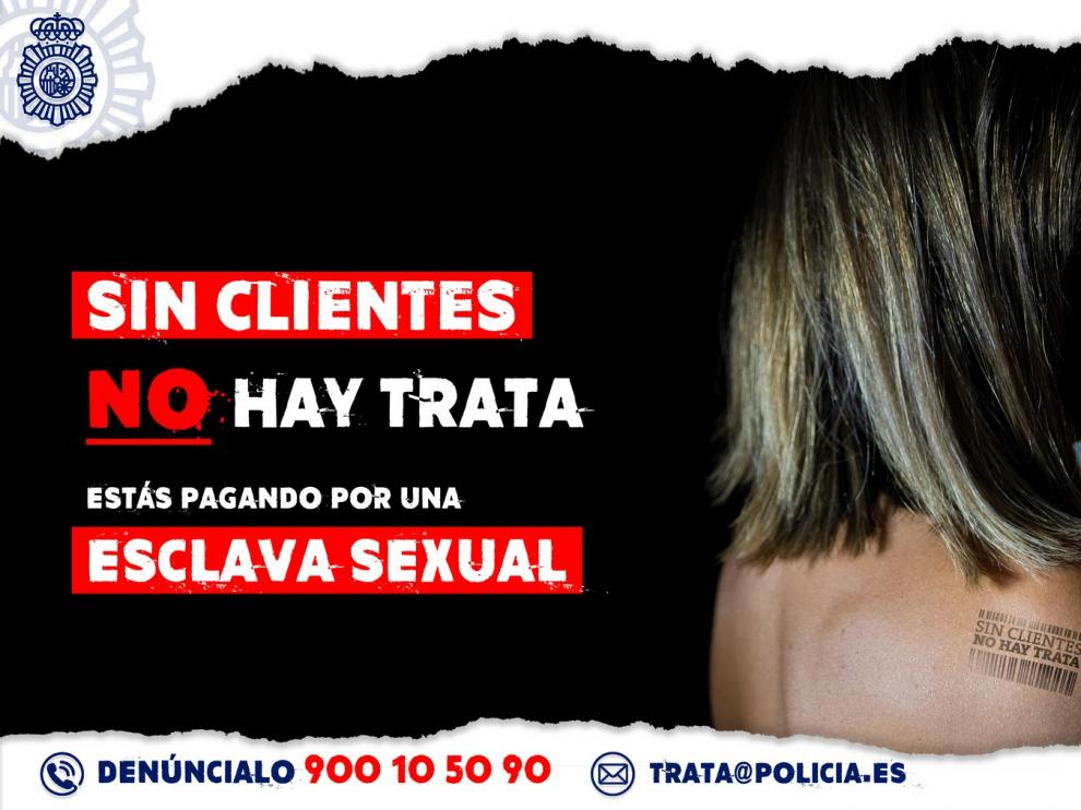 """La Policía Nacional lanza un vídeo dirigido al consumidor de prostitución: """"Si eres cliente, pagas su esclavitud"""""""