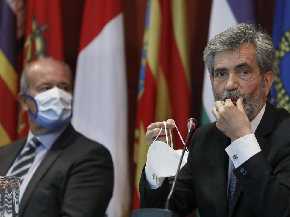 """Lesmes: """"El Rey expresa el apoyo a los jueces en defensa de la Constitución"""""""