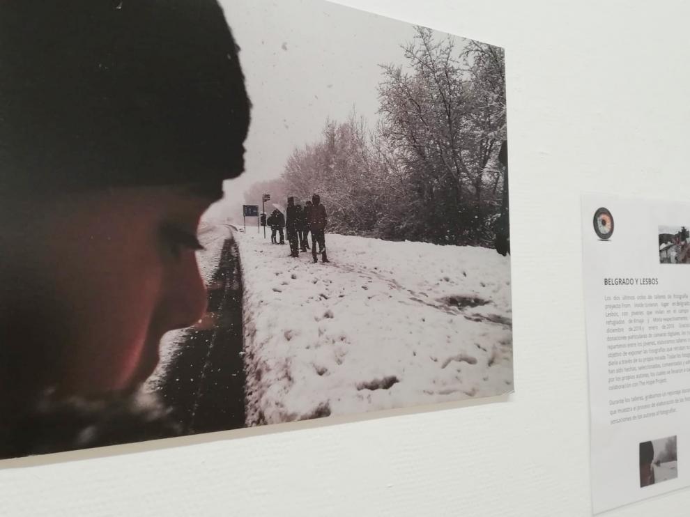 Finaliza la exposición de fotografías de jóvenes refugiados en Sabiñánigo