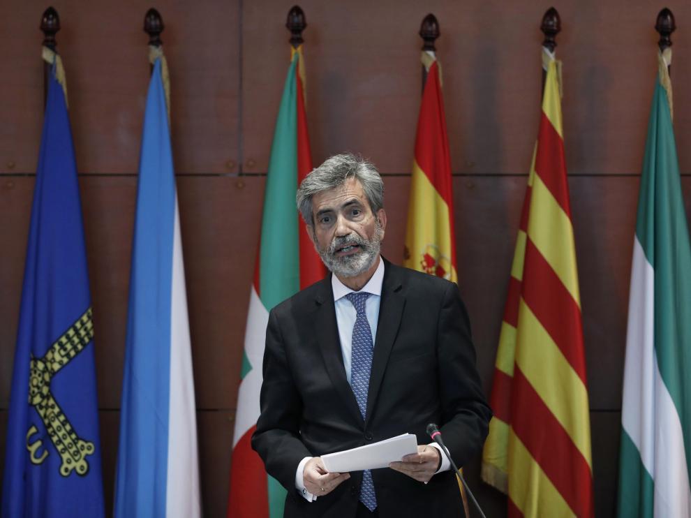 El Ministerio de Justicia pidió sin éxito a Lesmes aplazar el acto en Barcelona con el rey