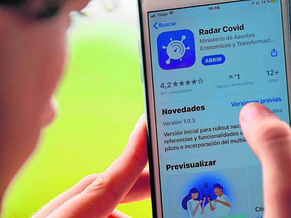 El 22,8 % de los aragoneses recurre a la app Radar Covid