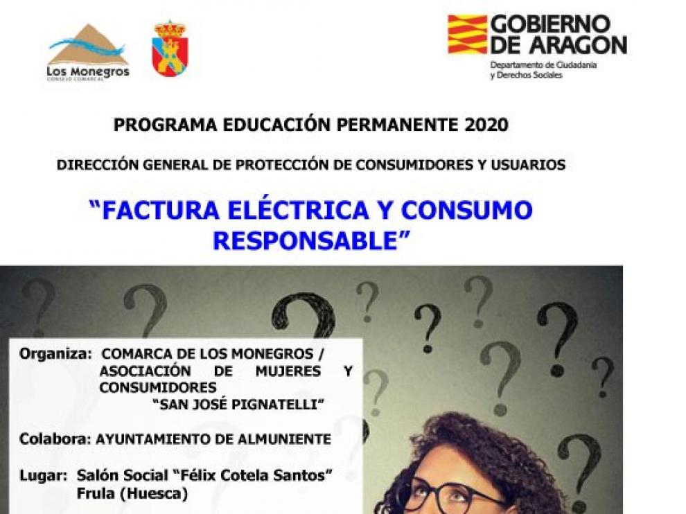 """Frula retoma la temporada informativa sobre Consumo con la charla """"Factura eléctrica y consumo responsable"""""""