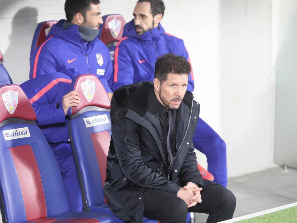 """Cholo Simeone, entrenador del Atlético de Madrid: """"El Huesca tiene un estilo con mucha personalidad"""""""