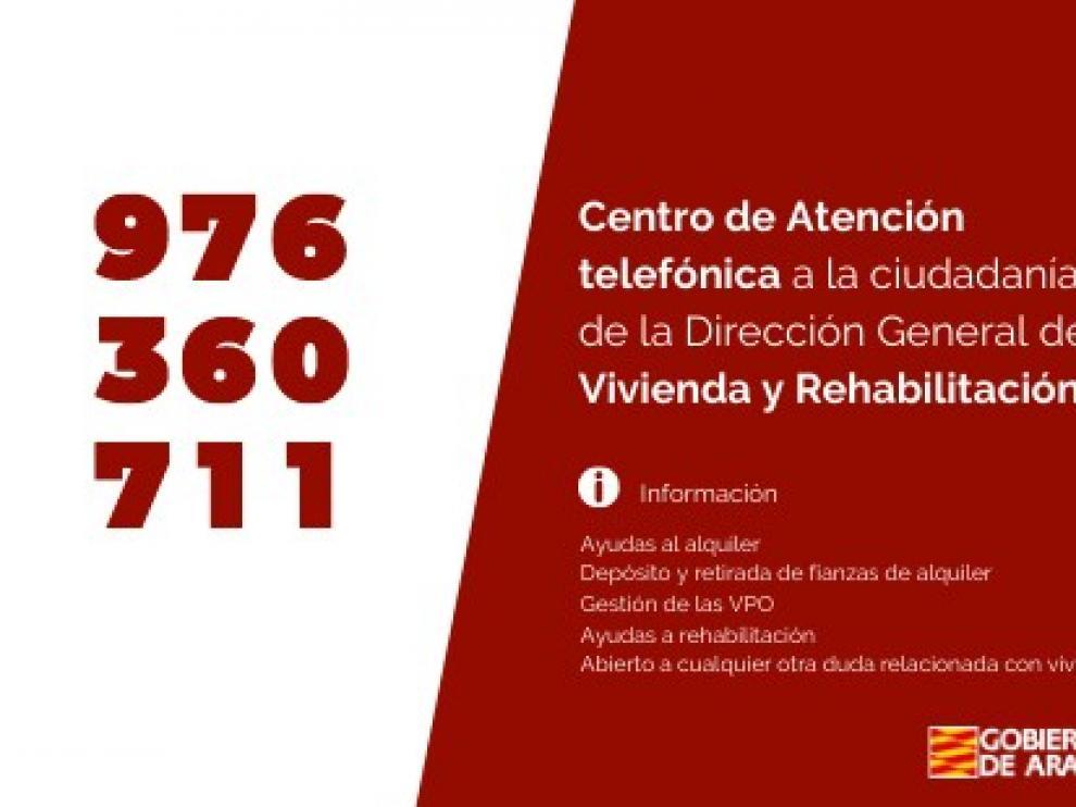Nuevo teléfono de atención a la ciudadanía en vivienda y rehabilitación