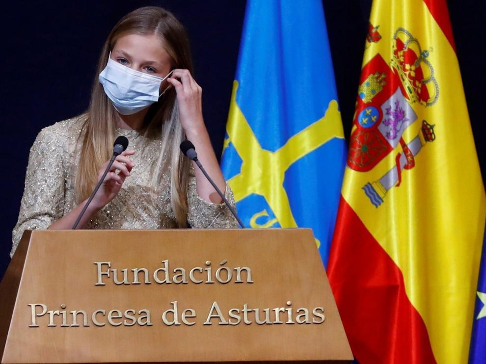 La princesa Leonor llama a la responsabilidad de los jóvenes en la entrega de los premios Princesa de Asturias