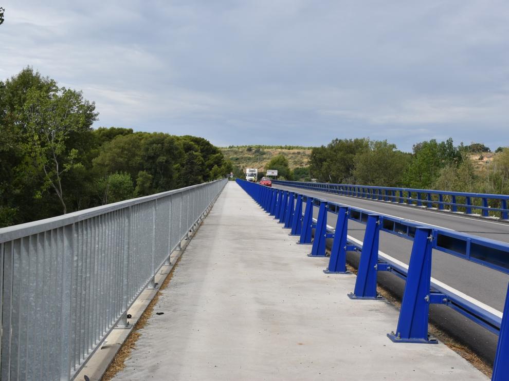 Inicio de las obras de los accesos peatonales al puente de la N-240 desde Monzón