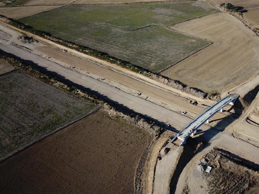 La autovía de Siétamo avanza con obras en ocho estructuras