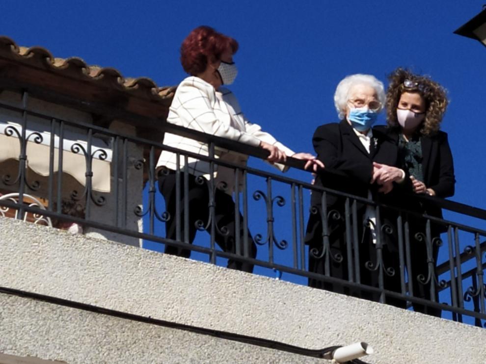 Josefa Navarro celebra sus 100 años en Torrente de Cinca