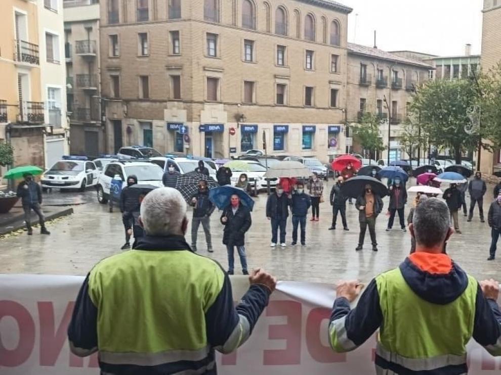 Nuevas movilizaciones en Monzón de la plantilla de FerroAtlántica