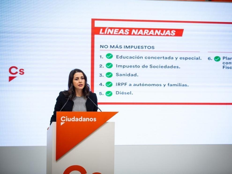 Arrimadas apoyará los PGE si la enmienda al castellano se retira