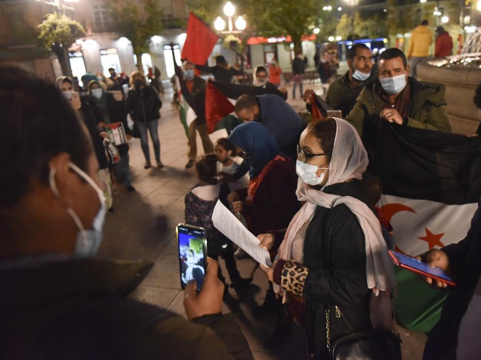 """Alouda denuncia en una concentración en Huesca la """"insostenible"""" situación del pueblo saharaui"""