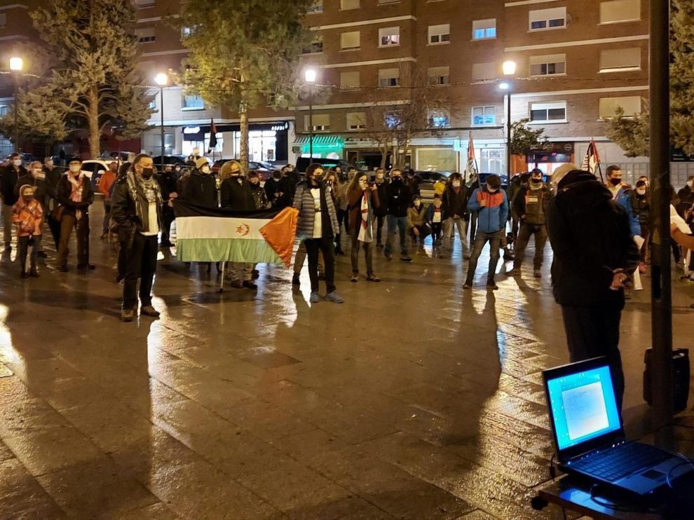Acto en Sabiñánigo por la autodeterminación del pueblo saharaui