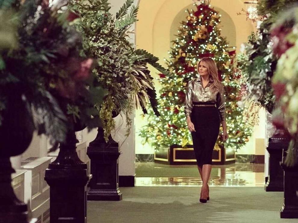 Melania Trump presenta la polémica decoración navideña de la Casa Blanca