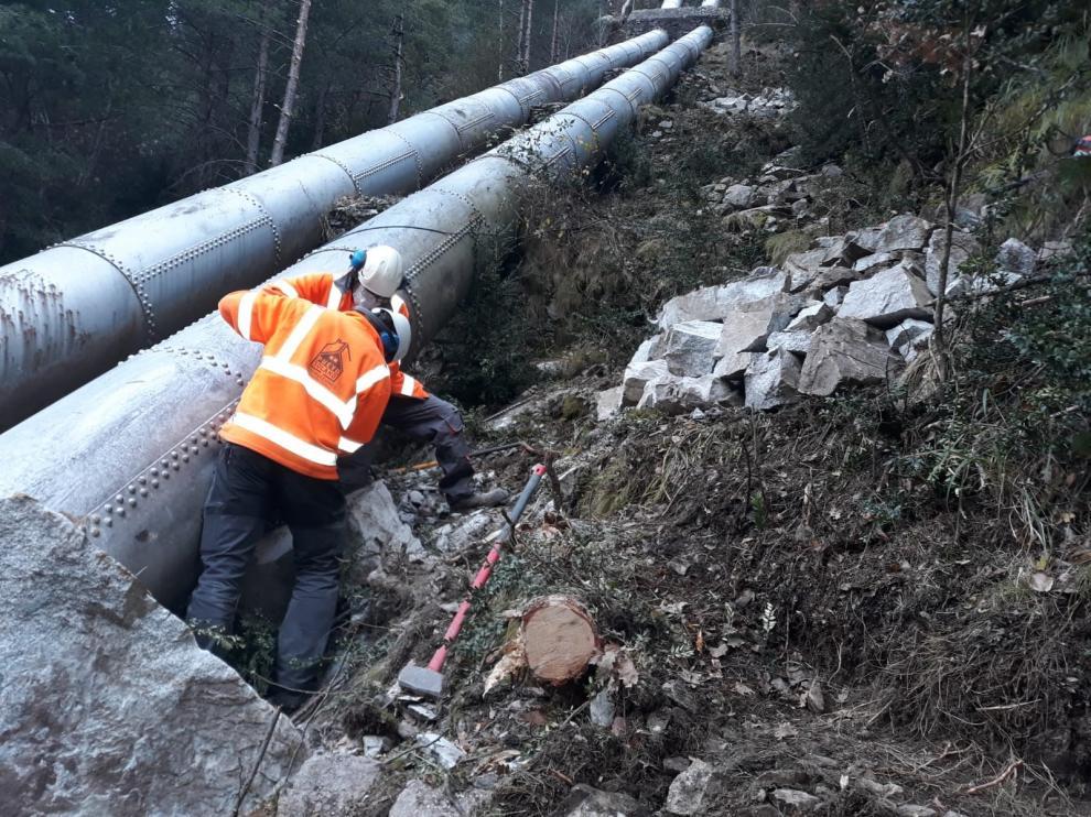 La reparación de la central de Barrosa de Bielsa comienza esta semana