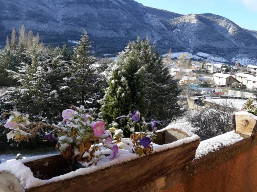 Huesca, en aviso naranja por nevadas de hasta 20 centímetros por encima de los 800 metros