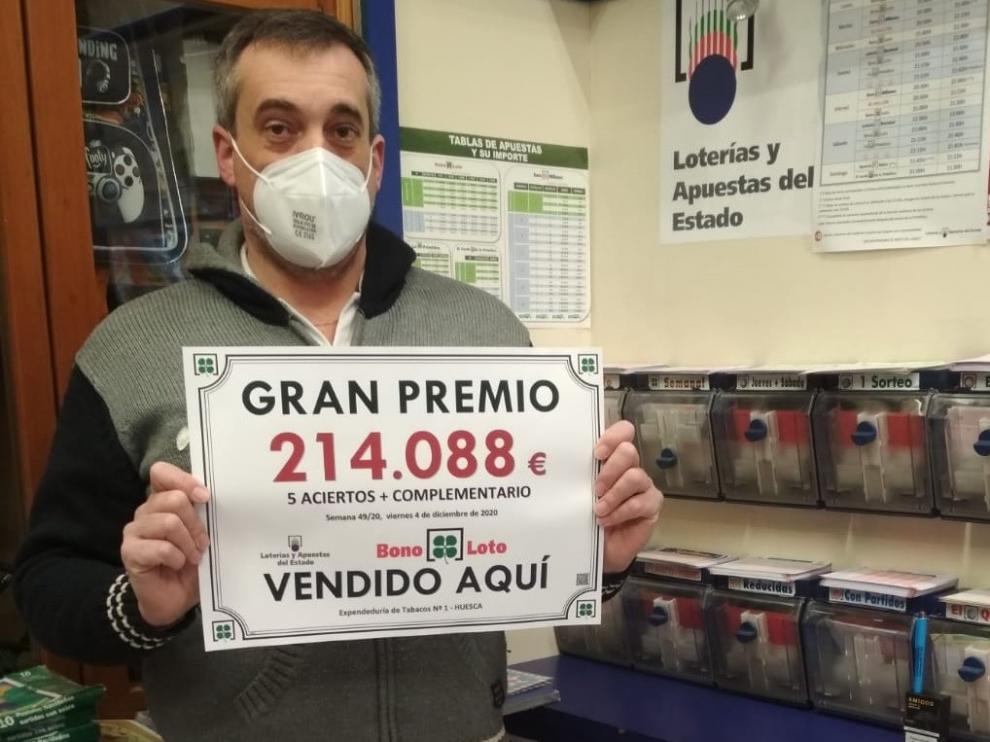 Un acertante de segunda categoría de Huesca gana 214.088 euros en la Bonoloto