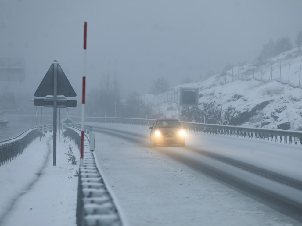 El frente vuelve a dejar nevadas abundantes en la zona norte de la provincia de Huesca