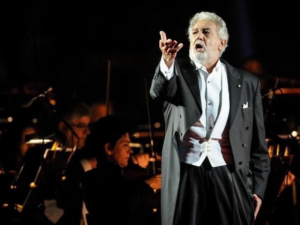 El tenor Plácido Domingo celebra su regreso a La Scala de Milán