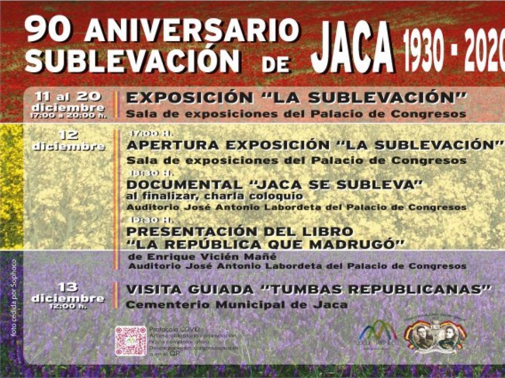 Jaca conmemora el 90 aniversario de la sublevación republicana