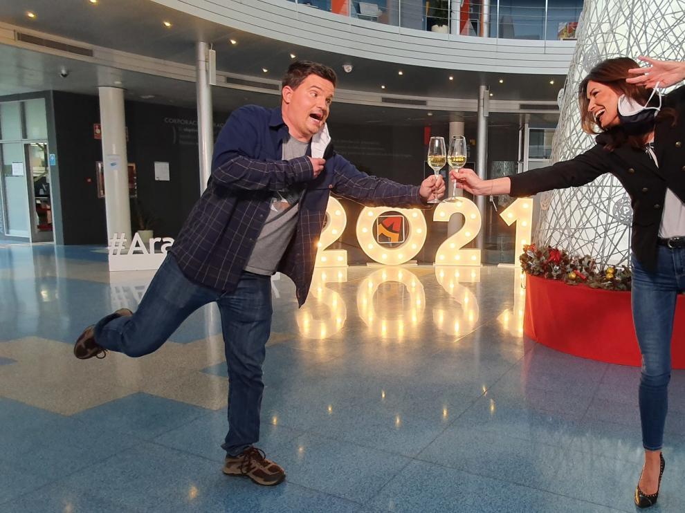 Luquin y Zapater darán las Campanadas en Aragón TV