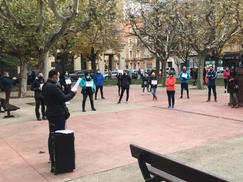 """Los locales deportivos se reivindican en Huesca como """"un sector esencial"""""""