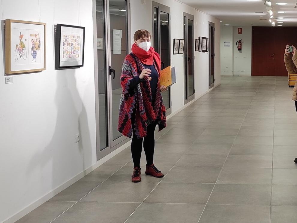 Sandra Araguás inaugura las Jornadas Literarias del Bajo Cinca