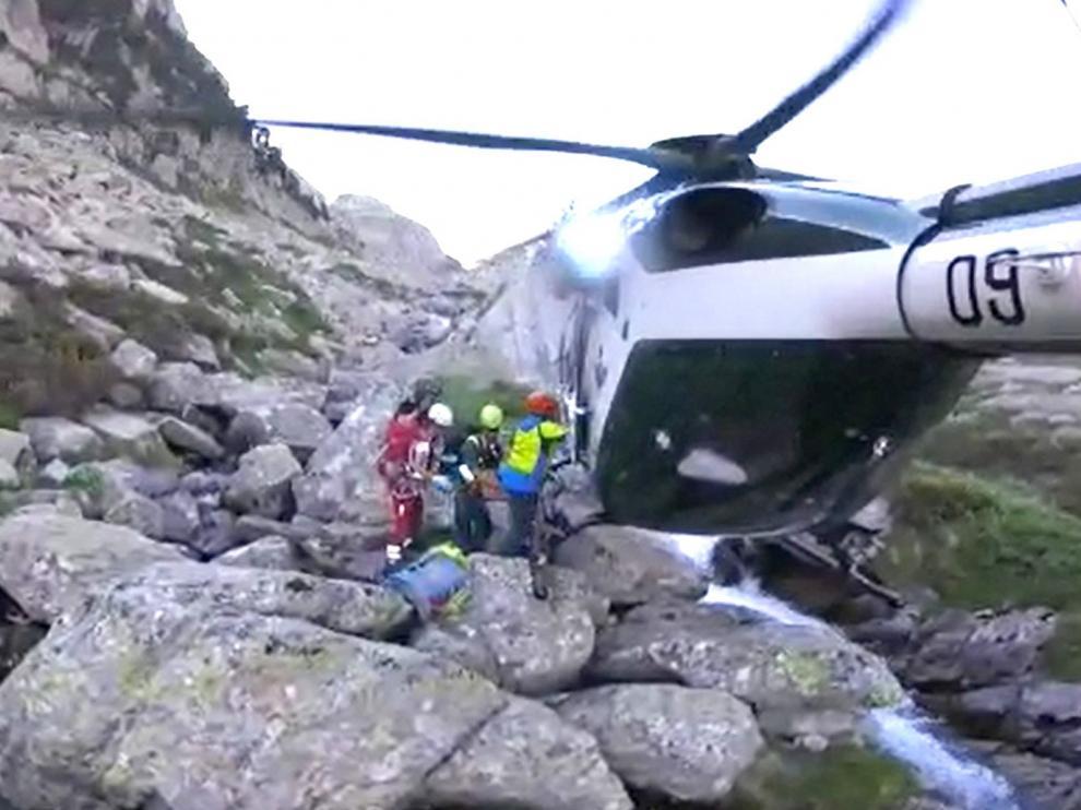 El perfil del rescatado en la montaña responde a una persona fuerte, con pocos conocimientos técnicos y sin experiencia