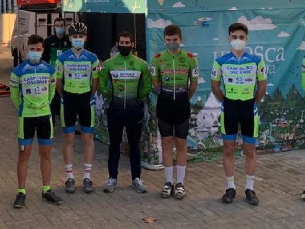 Cuarto puesto en ciclocross del cadete oscense Rafael López en Xátiva
