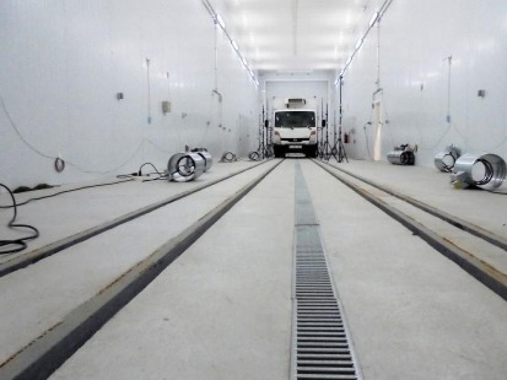 Plaza cuenta ya con el primer túnel de frío de Aragón para el transporte por carretera y ferroviario