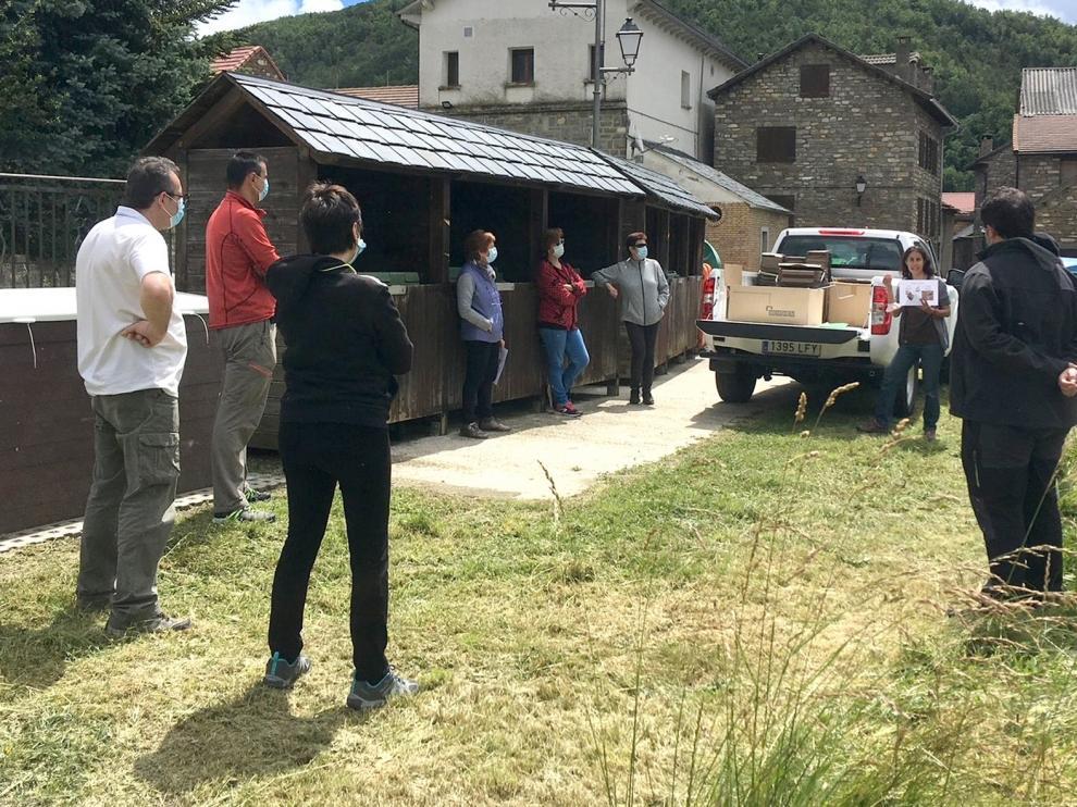 El sistema de compostaje comunitario llega a 26 núcleos en la Jacetania