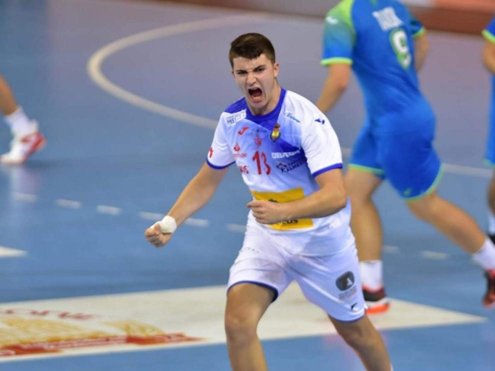 Domingo Luis Mosquera, con la selección júnior