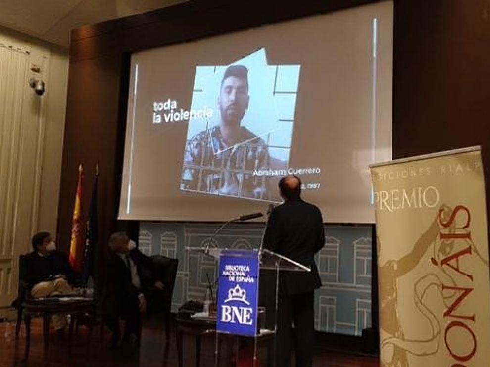 Abraham Guerrero, Premio Adonáis de Poesía 2020