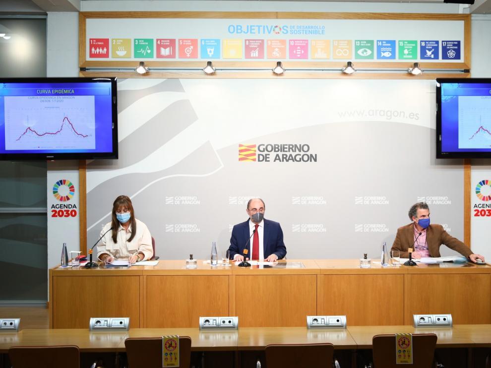 Aragón mantiene el confinamiento perimetral de las tres provincias hasta el 12 de enero