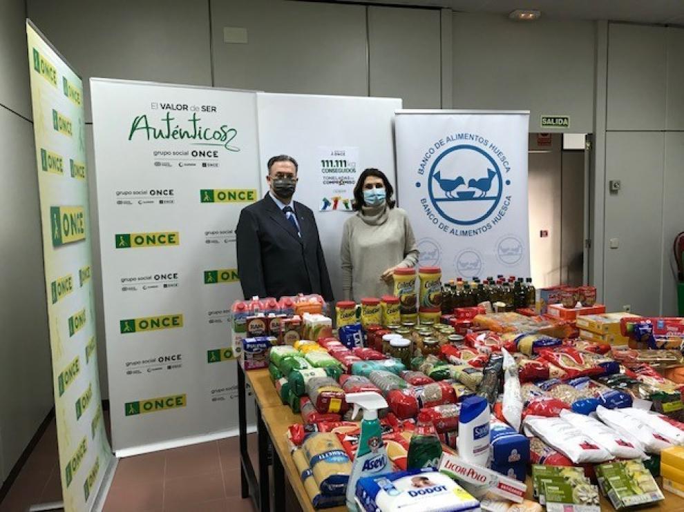 """La ONCE se suma a la campaña """"Toneladas de compromiso"""" y logra en solo un mes 111.111 kilos de alimentos"""