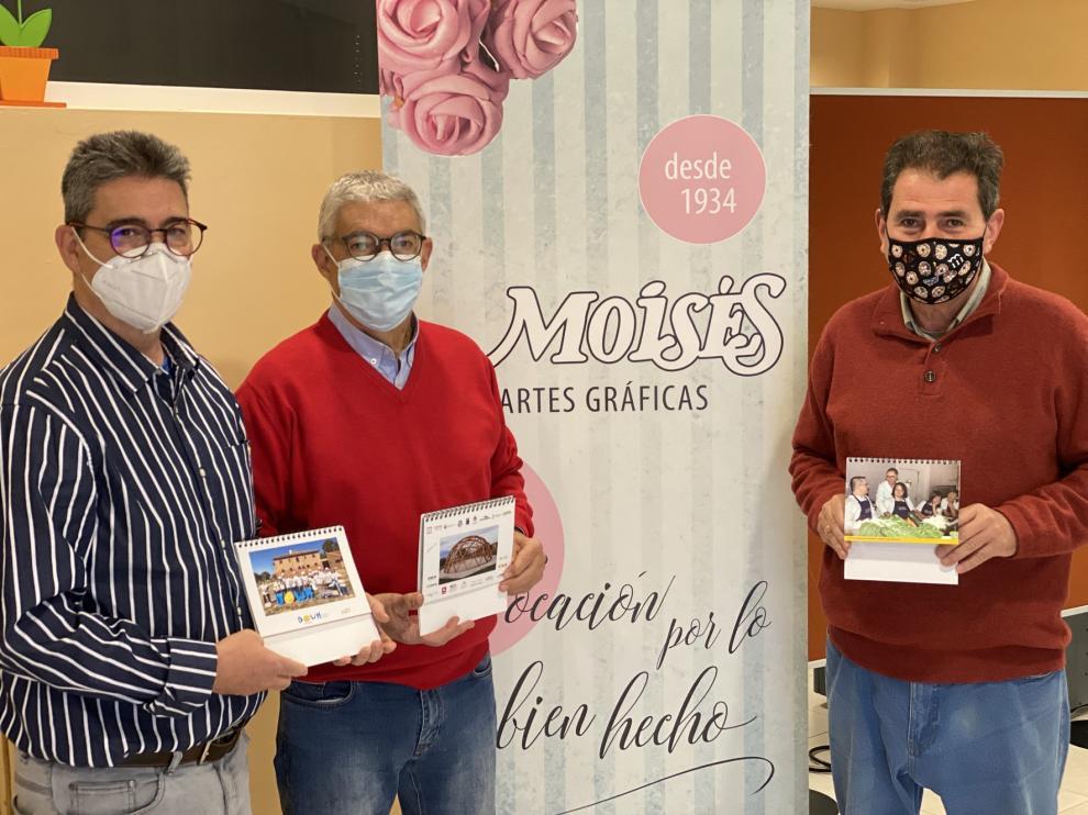 Down Huesca edita más de un millar de calendarios solidarios esta Navidad