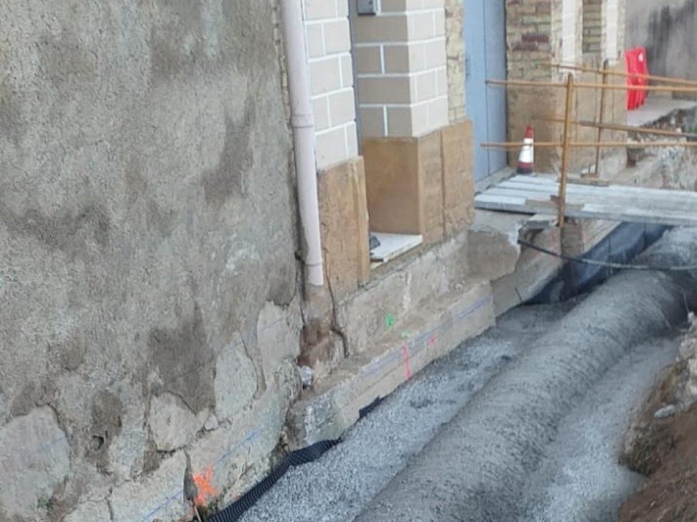 Los trabajos en la travesía de Azanuy finalizarán en los próximos días