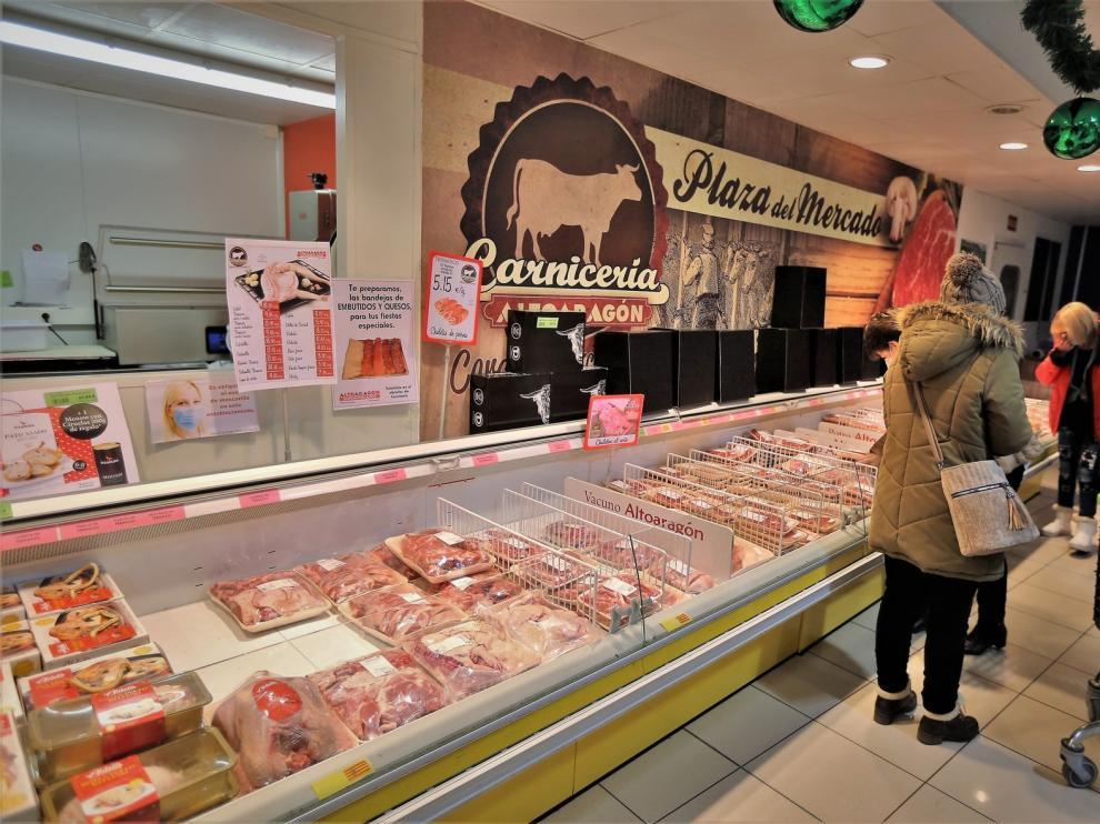 Los supermercados oscenses se preparan para unas Navidades con restricciones