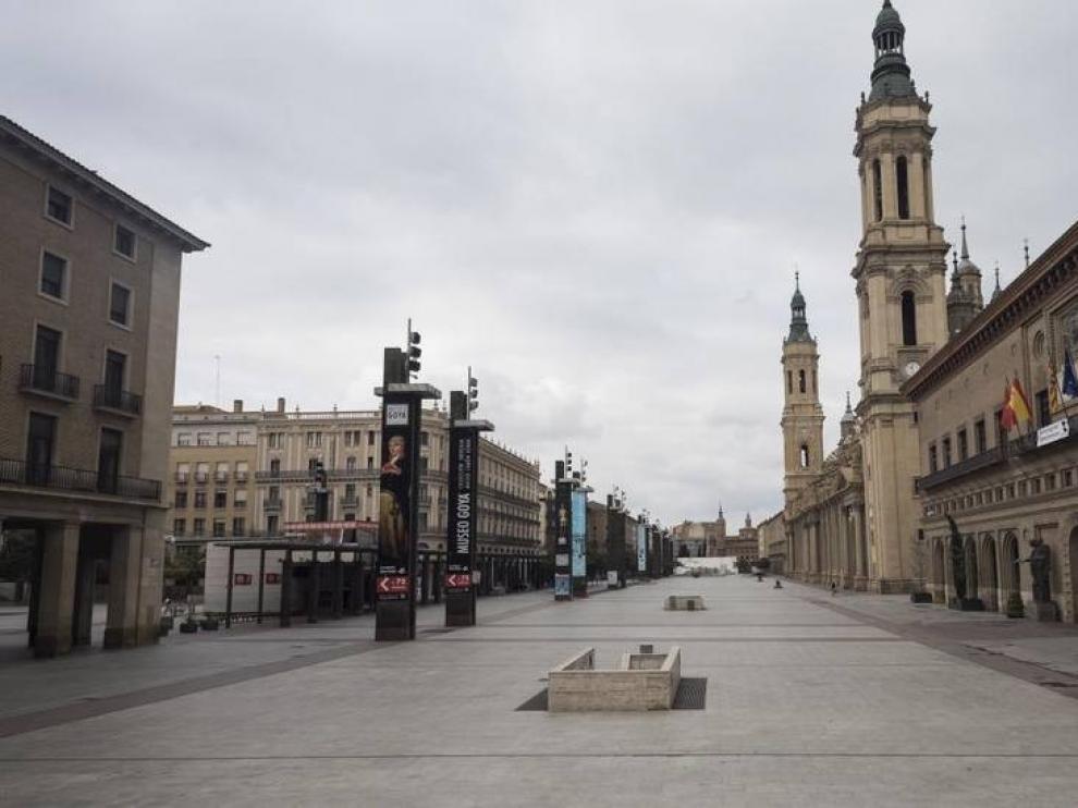 La plaza del Pilar podría estar cerrada la noche de fin de año