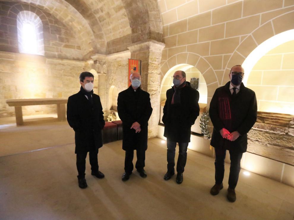La última intervención en San Pedro el Viejo de Huesca dará mayor esplendor al Panteón Real
