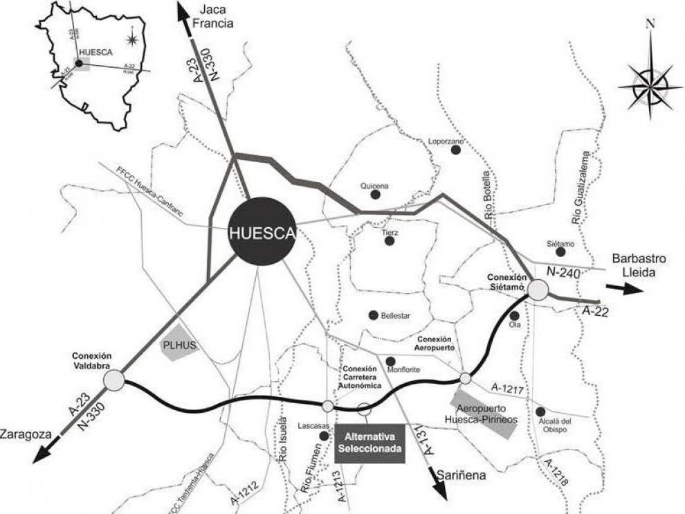 Declaración de Impacto Ambiental para la Variante Sur de Huesca