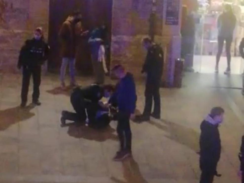 Una pelea en Huesca entre dos grupos de jóvenes termina sin detenidos