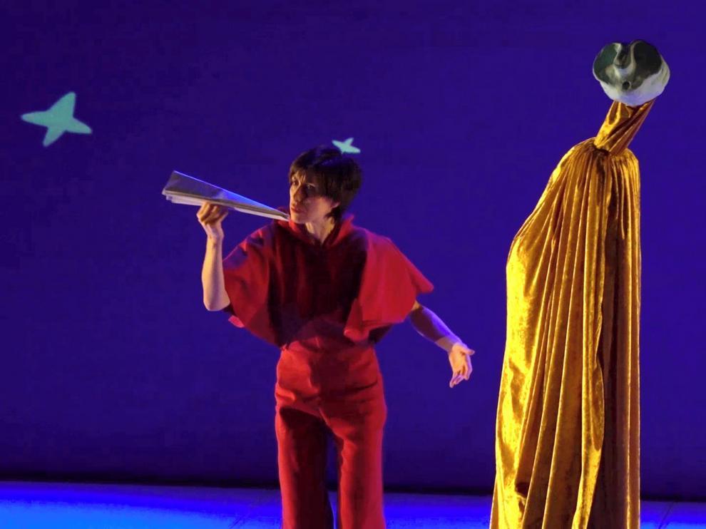 La compañía Baal escenifica en Jaca la pintura de Joan Miró