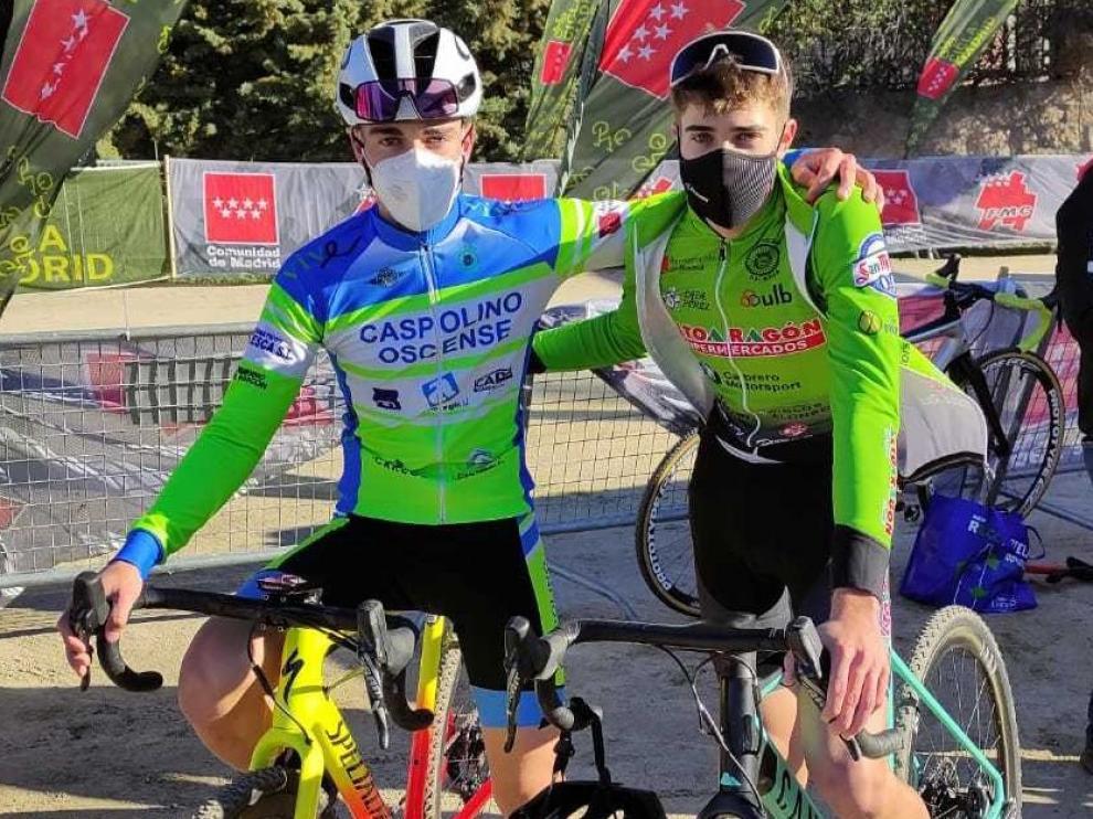 Podios en ciclocross para Zaera y López