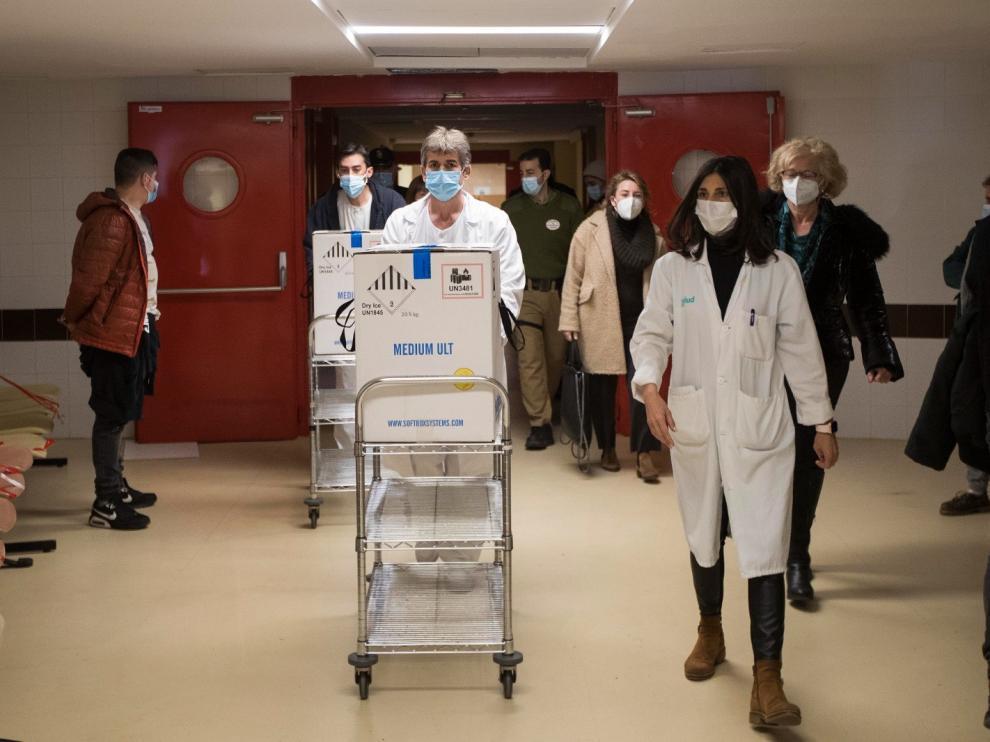 La segunda remesa de vacunas para la covid-19 ya ha llegado a Aragón
