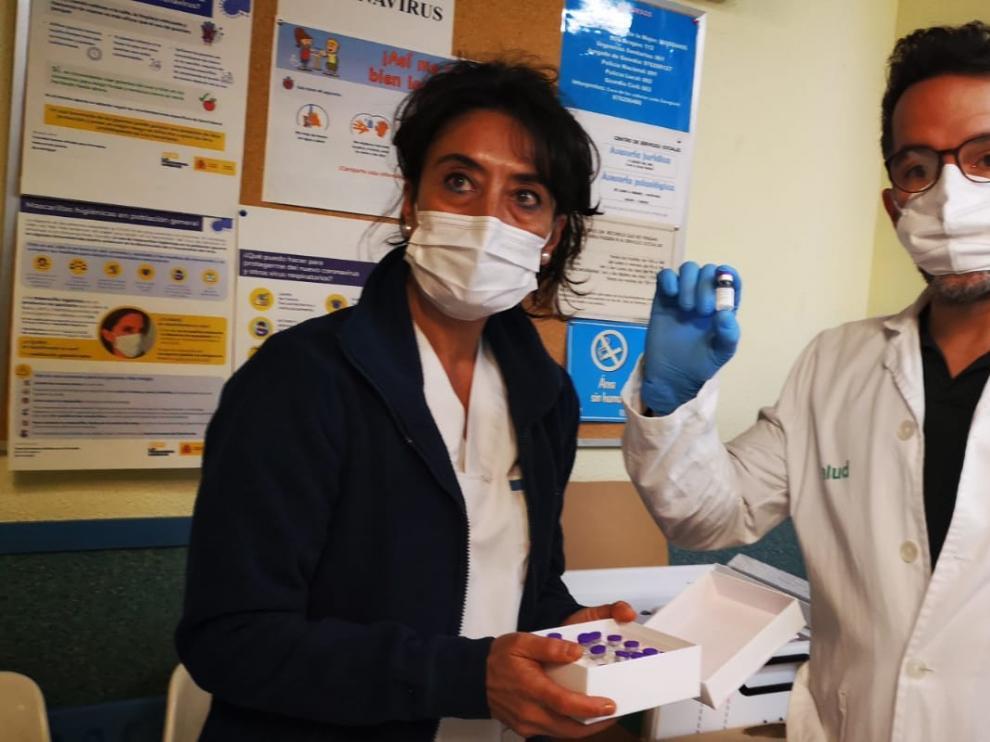 Las vacunas llegan a primera hora de la mañana a Ribagorza