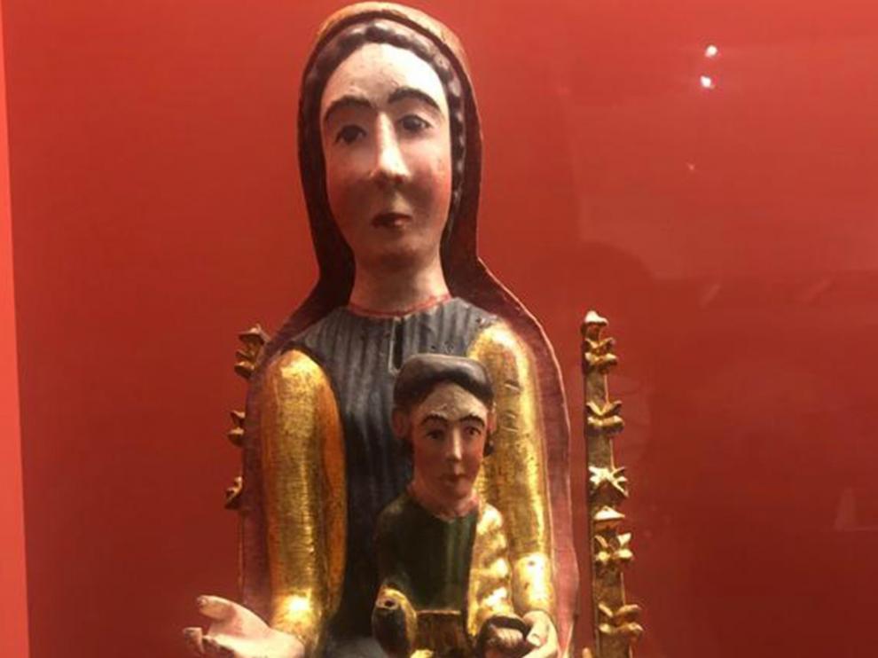El Museo Diocesano de Barbastro expone talla restaurada de la Virgen de Linares de Benabarre