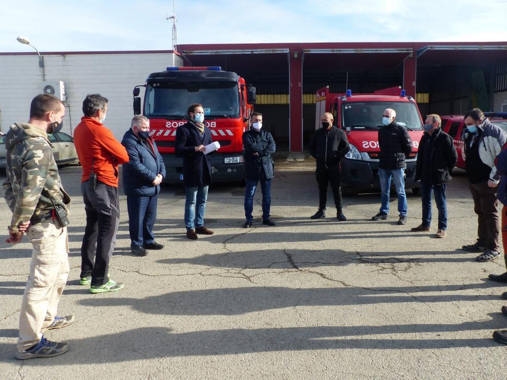 El Ayuntamiento de Monzón exige a la DPH que no deje sin personal el parque de bomberos