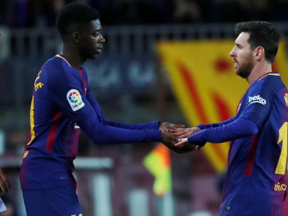Dembélé se perfila como titular tras su gol al Eibar y la lesión de Coutinho