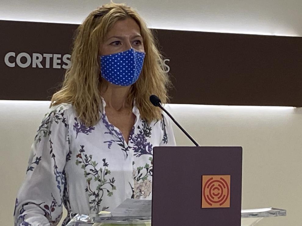 "Mar Vaquero, secretaria general del PP en Aragón: ""(Lambán) ha sido incapaz de proteger a los aragoneses"""