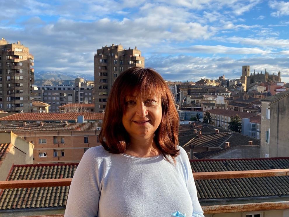"""Trinidad Valdovinos, presidenta de Feaccu Huesca: """"El voluntariado produce bienestar y eso favorece el tener buena cara"""""""